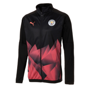Puma Manchester City Aufwärmjacke International Stadium Jacket schwarz/rot