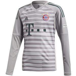 adidas FC Bayern München Kinder Torwart Trikot 2018/19 grau/dunkelgrün