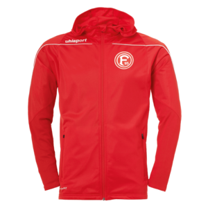 Uhlsport Fortuna Düsseldorf Kapuzenjacke Stream 22 Hood Jacket rot/weiß