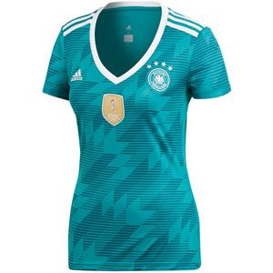 adidas Deutschland Damen Auswärts Trikot WM 2018 blaugrün/weiß