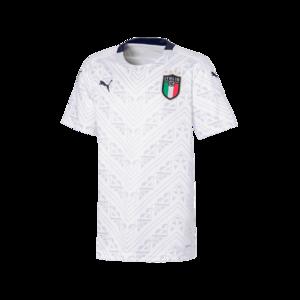 Puma Italien Kinder Auswärts Trikot EM 2020 weiß/dunkelblau