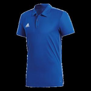 adidas Poloshirt Core 18 blau/weiß