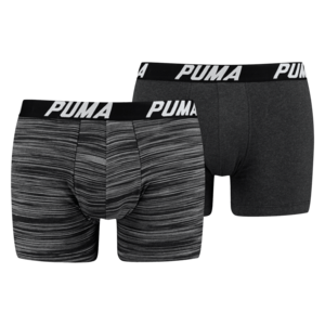 Puma Boxer 2er Pack Spacedye Stripe schwarz/anthrazit