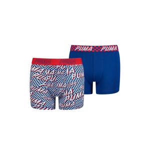 Puma Kinder Basic Race Rats Print Boxer 2er Pack blau/rot
