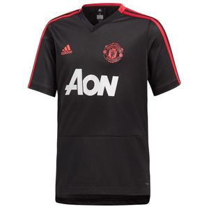adidas Manchester United Kinder Trainingsshirt schwarz/rot