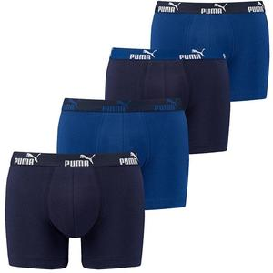 Puma Basic Boxer 4er Pack blau/schwarz