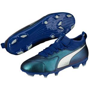 Puma Kinder Fußballschuh One 3 LTH FG JR blau/silber