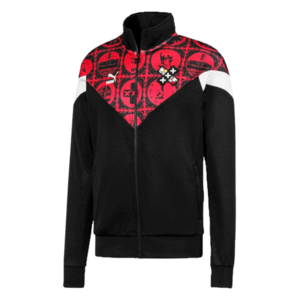 Puma Fanjacke Amsterdam Influence Track Jacket schwarz/rot