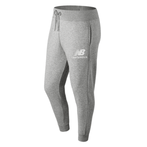 New Balance Jogginghose Essentials Stacked Logo Sweat Pants grau/weiß