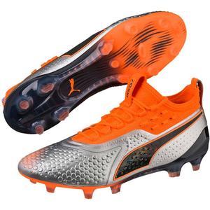 Puma Fußballschuh One 1 SYN FG/AG silber/orange