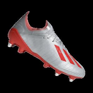 adidas Fußballschuh X 19.1 SG silber/rot