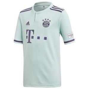 adidas FC Bayern München Kinder Auswärts Trikot 2018/19 mintgrün/dunkelviolett
