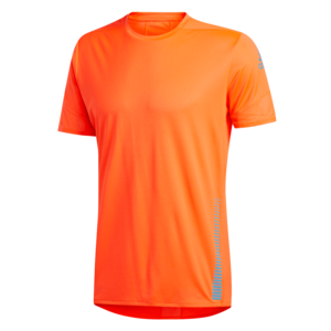 adidas Laufshirt 25/7 Rise Up N Run M Tee orange/hellblau
