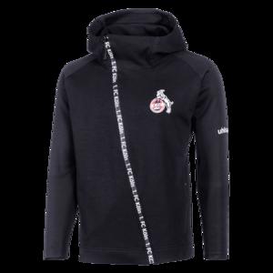 Uhlsport 1. FC Köln Kapuzenjacke Essential Pro Jacket schwarz/weiß
