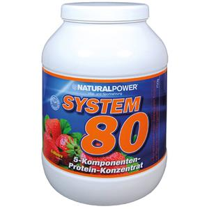 Natural Power Protein System 80 Dose mit 750g - Banane