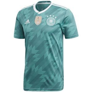 adidas Deutschland Herren Auswärts Trikot WM 2018 blaugrün/weiß