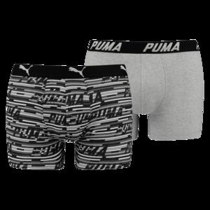 Puma Boxer 2er Pack Logo AOP schwarz/weiß