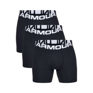 Under Armour Boxershort Charged Cotton 3er Pack schwarz/weiß