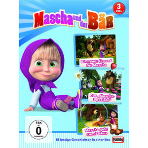 Mascha Und Der Bär - 3er DVD (Folgen 1 + 2 + 4) - 3 DVD