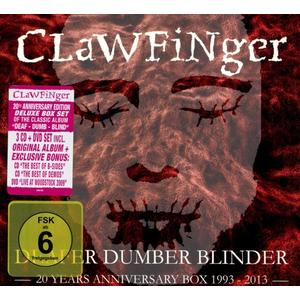 Clawfinger - Deafer Dumber Blinder-20 Years Anniversary Box - 4 CD