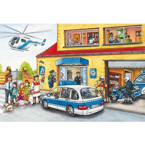 KINDERPUZZLE 3x24 TEILE Feuerwehr und Polizei, 3x24 Teile