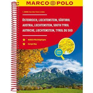 MARCO POLO Reiseatlas Österreich, Liechtenstein, Südtirol 1:200 000