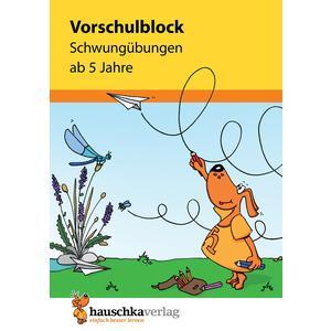 Vorschulblock - Schwungübungen ab 5 Jahre, A5-Block