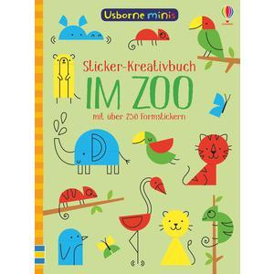 Usborne Minis - Sticker-Kreativbuch: Im Zoo