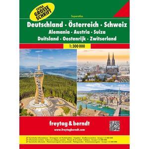 Deutschland - Österreich - Schweiz, Autoatlas 1:300.000