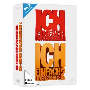 Steve Carell ( (Originalstimme Gru)) - Ich-Einfach Unverbesserlich 1+2 - 2 Blu-Ray