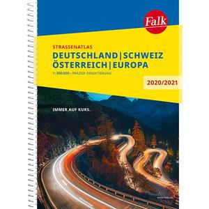 Falk Straßenatlas Deutschland, Schweiz, Österreich, Europa 2020/2021 1 : 300 000