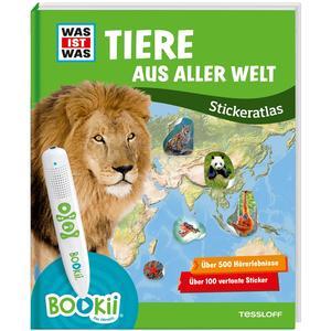 BOOKii® WAS IST WAS Stickeratlas Tiere aus aller Welt
