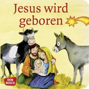 Jesus wird geboren. Mini-Bilderbuch.