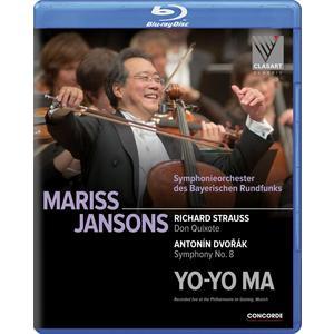 Musik-CD Richard Strauss: Don Quixote/Anton Dvorak: Symph / Jansons,Mariss/Yo-Yo Ma, (1 Blu-Ray Video)