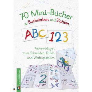 70 Minibücher zu Buchstaben und Zahlen