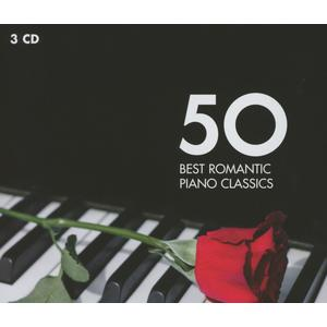Musik-CD 50 Best Romantic Piano Classic / Andsnes/Collard/Pollini/Hough, (3 CD)