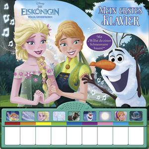 Disney Die Eiskönigin - Mein erstes Klavier - Kinderbuch mit Klaviertastatur, 9 Kinderlieder, Vor- und Nachspielfunktion, Pappbilderbuch ab 3 Jahren
