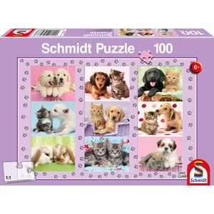 KINDERPUZZLE 100 TEILE Meine Tierfreunde, 100 Teile