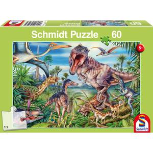 KINDERPUZZLE 60 TEILE Bei den Dinosauriern, 60 Teile