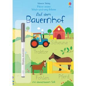 Meine ersten Wisch-und-weg-Wörter: Auf dem Bauernhof