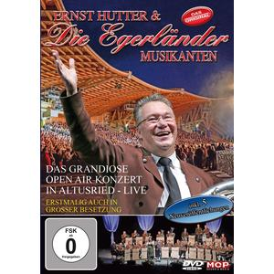 Musik-CD Das grandiose Open Air Konzert in Altusried-Live / Hutter,Ernst & Die Egerländer Musikanten, (1 DVD-Video Album)