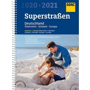ADAC SuperStraßen Deutschland, Österreich, Schweiz & Europa 2020/2021 1:200 000