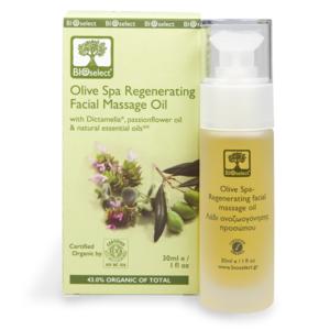 BIO-zertifiziert - Oliven SPA regenerierendes Gesichtsmassageöl 30ml
