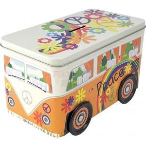 Peace Truck | Hippie Bulli | Geschenkverpackung | Spardose | Weissblech |9.9