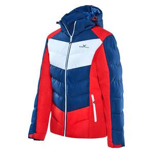 Damen Wintersport Jacke: Wasserdicht (8000 mm) | Farbe: Navy/Rot | Größe: 36