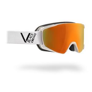 Damen/Herren Skibrille - Modell: SCHLADMING | Farbe: Weiß/Schwarz / Scheibe: Orange | Größe: M