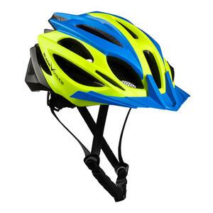 Damen/Herren MTB- & Fahrradhelm - RTF Verstellsystem | Farbe: Blau/Gelb/Schwarz | Größe: M/L (58-61 cm)