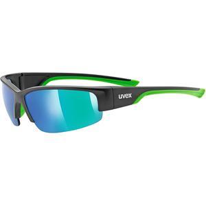 Damen/Herren Sportbrille - Sportstyle 215 - 100% UV-Schutz - Radfahren/Laufen   Farbe: Schwarz/Grün