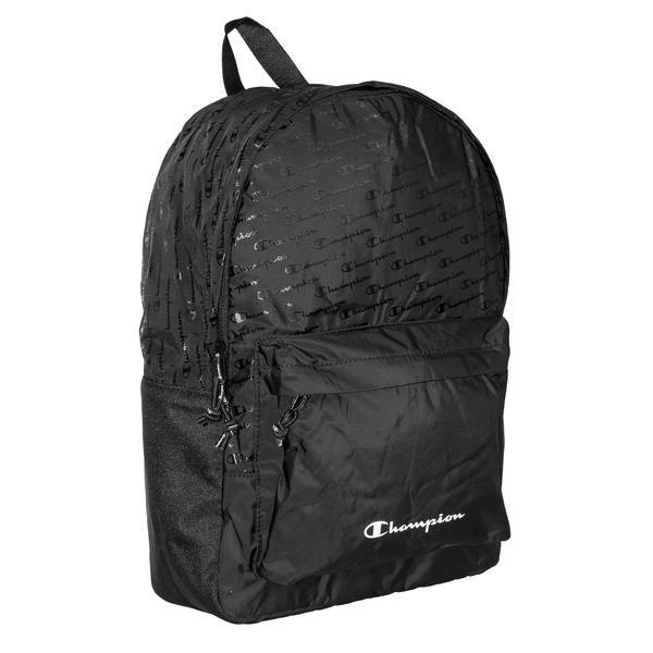 Backpack/Rucksack für Schule/Sport und Alltag - Allover Logoprint - 43 x 31 x 12,5 cm - 17 Liter | Farbe: Schwarz