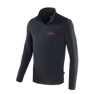 Herren Fleece Pullover - 170g/m2 - Microfleece | Farbe: Schwarz/Rot | Größe: L/52
